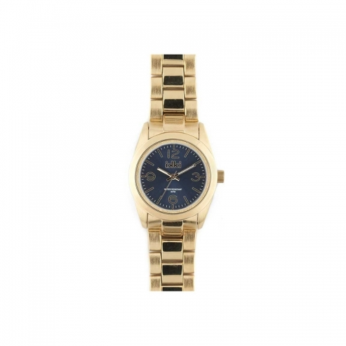 Ikki Gold and Navy Boyfriend Style Watch