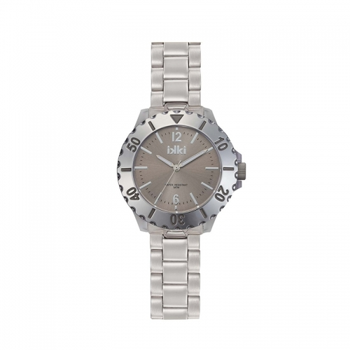 Ikki Steel Boyfriend Style Watch