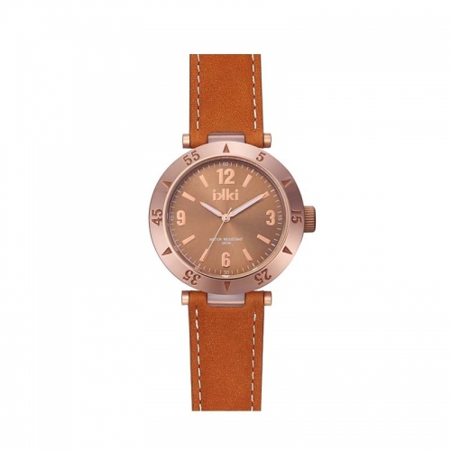 Ikki Bronze Leather Strap Watch