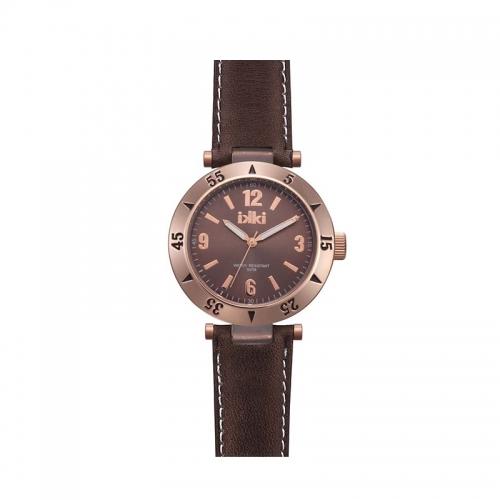 Ikki Dark Brown Leather Strap Watch