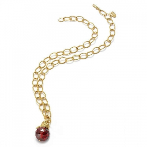 Just Cavalli Boule Gold and Red Stone Necklace