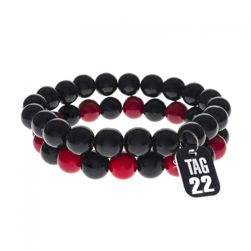 Tag Twenty Two Glass Beaded Bracelet Set