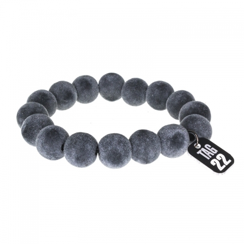 Tag Twenty Two Grey Suede Beaded Bracelet