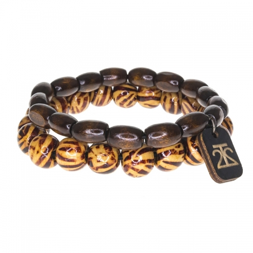 Tag Twenty Two Tiger Print Bamboo Bracelet Set