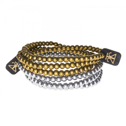 Tag Twenty Two Gold and Silver Wraparound Bracelet