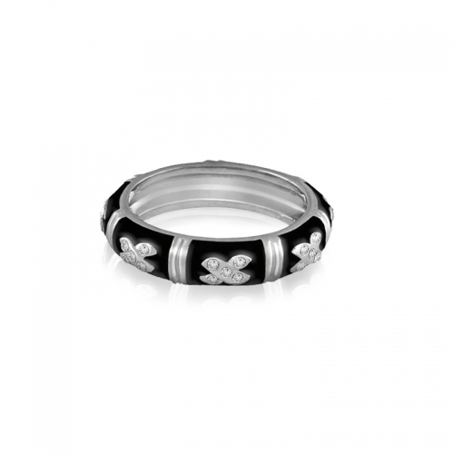 Lauren G Adams Black X Stackable Ring