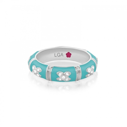 Lauren G Adams Turquoise X Stackable Ring
