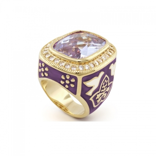 Lauren G Adams Lavender Peace and Dove Ring