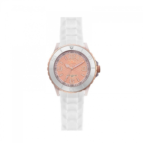 Ikki White and Peach Kopie Sports Watch