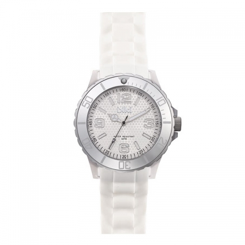 Ikki White and Silver Kopie Sports Watch
