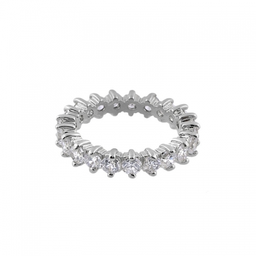 Lauren G Adams Silver and White CZ Stackable Ring