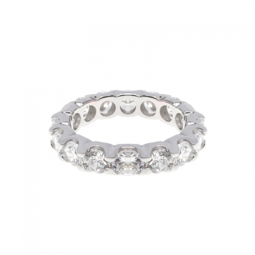 Lauren G Adams Silver and White Oval CZ Ring