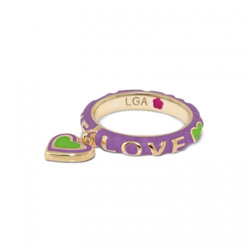 Lauren G Adams Lavender Love Stackable Charm Ring