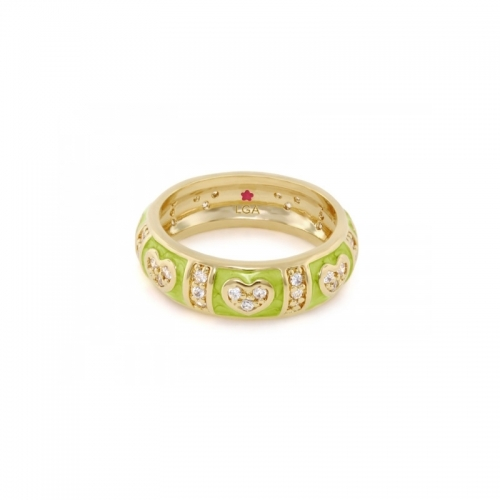 Lauren G Adams Green Heart Stackable Ring