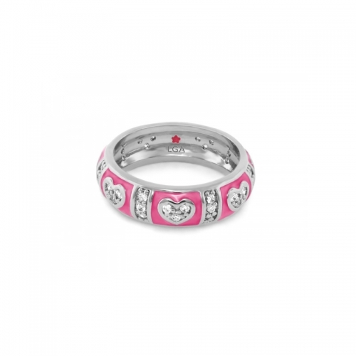 Lauren G Adams Pink Heart Stackable Ring