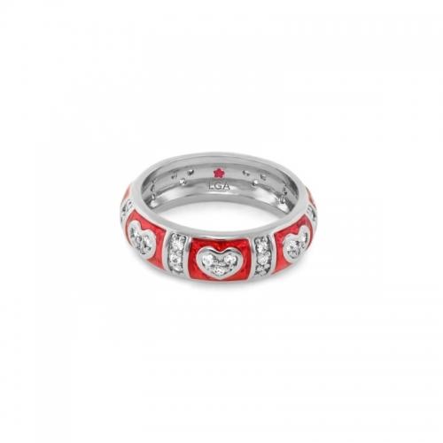 Lauren G Adams Red Heart Stackable Ring