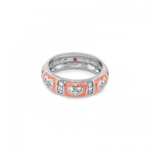 Lauren G Adams Coral Heart Stackable Ring