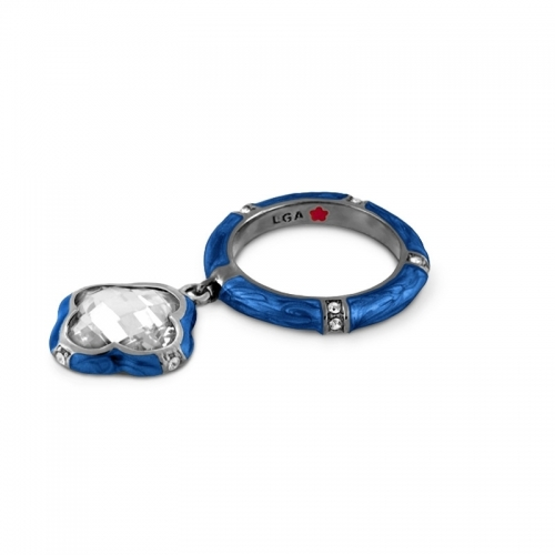 Lauren G Adams Blue Clover Charm Ring