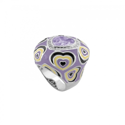 Lauren G Adams Lavender Heart Cocktail Ring