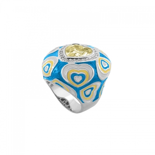 Lauren G Adams Turquoise Heart Cocktail Ring