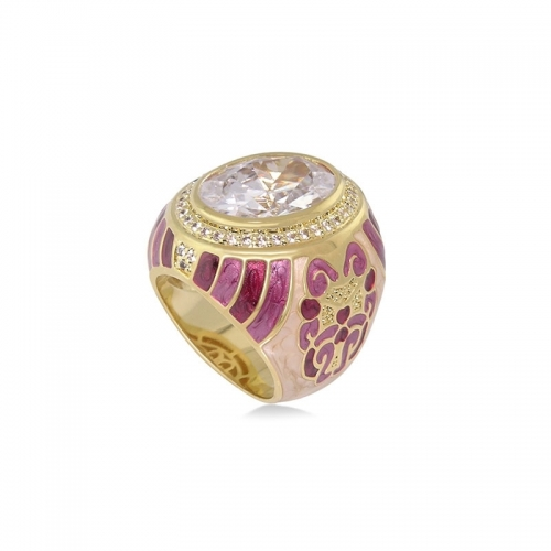 Lauren G Adams Psychedelic Swirl Cocktail Ring