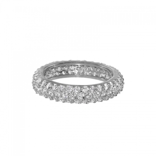 Lauren G Adams Silver Eternity Band