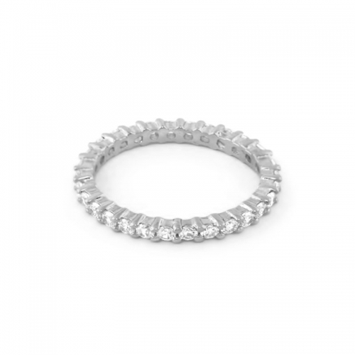 Lauren G Adams Single Silver Eternity Band