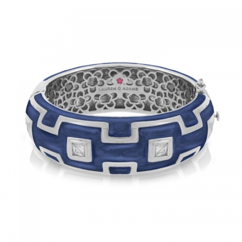Lauren G Adams Blue Square Pattern Bangle