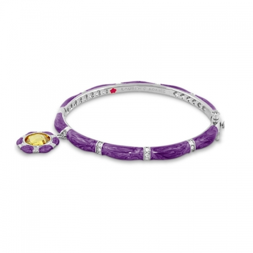 Lauren G Adams Purple Stackable Charm Bangle