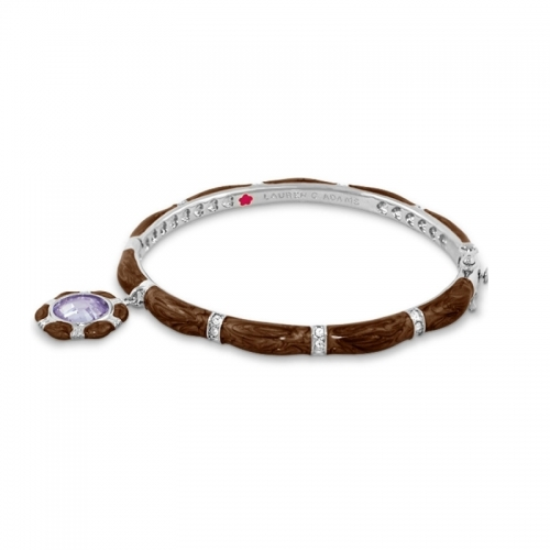 Lauren G Adams Brown Stackable Charm Bangle