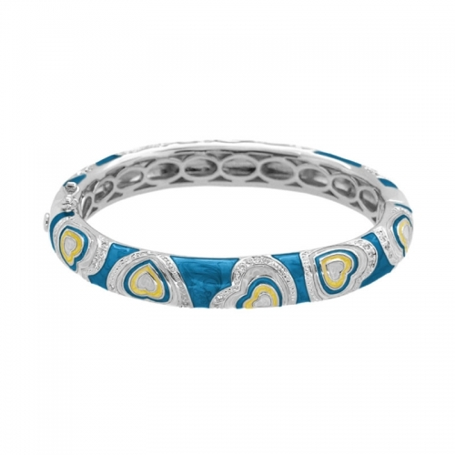 Lauren G Adams Blue Hearts Stackable Bangle