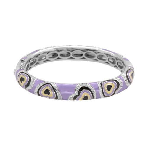 Lauren G Adams Purple Hearts Stackable Bangle