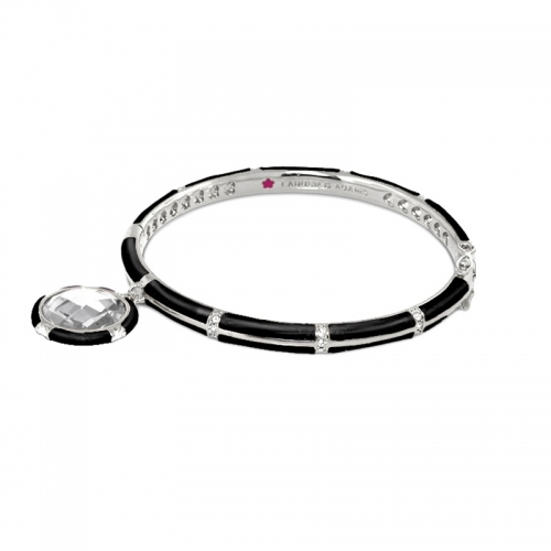 Lauren G Adams Black Stackable Charm Bangle