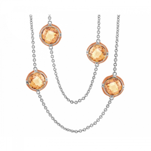 Lauren G Adams Orange Prince Charming Necklace