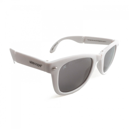 Wize and Ope White Folding Sunglasses - SUN-1