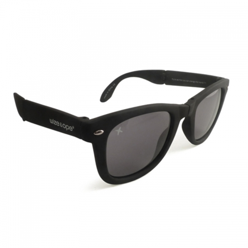 Wize and Ope Black Folding Sunglasses - SUN-2