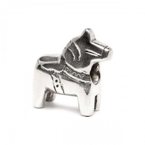 Trollbeads Trollbeads Dala Horse Silver Bead 11312