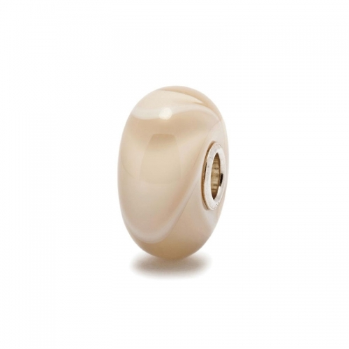 Trollbeads Cream Armadillo Silver & Glass Bead 61442