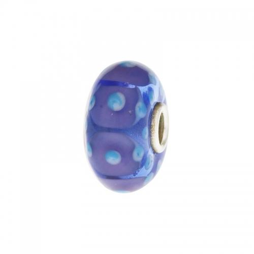 Trollbeads Blue Springtime Silver & Glass Bead 64601-4