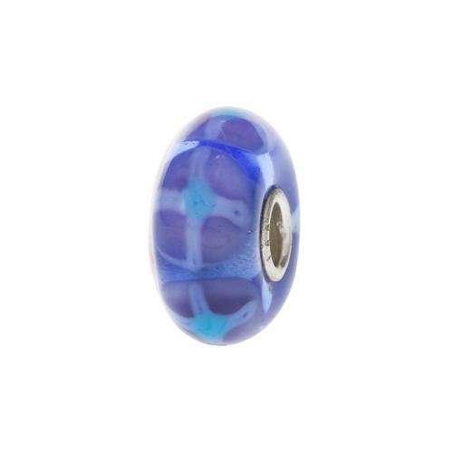 Trollbeads Blue Springtime Silver & Glass Bead 64601-5