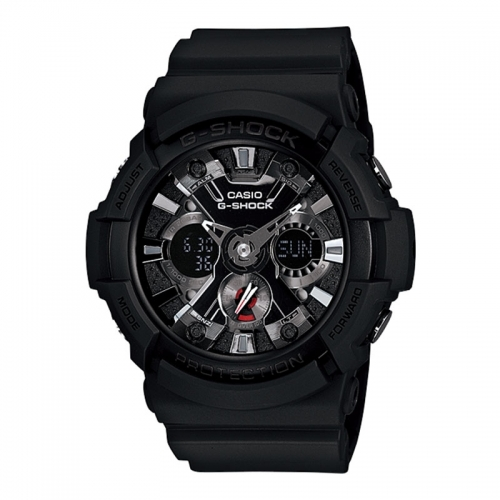 Casio Casio G-Shock Men's Black Alarm Chronograph Watch GA-201-1AER