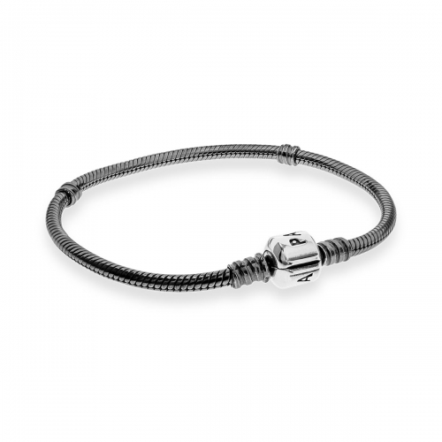 Pandora Oxidised Sterling Silver Bracelet With Barrel Clasp 590702OX