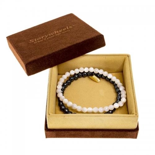 Storywheels Mother of Pearl & Hematite Bracelet Set