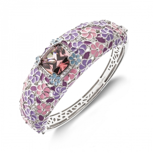 Belle Etoile Enchanted Garden Purple Bangle
