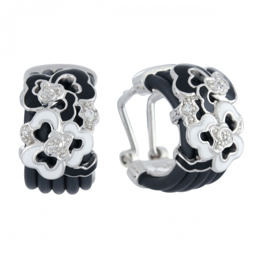 Belle Etoile Fiori Black Earrings