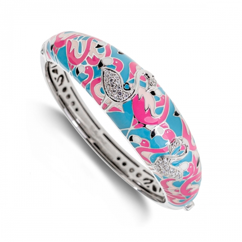 Belle Etoile Flamingo Pink Bangle
