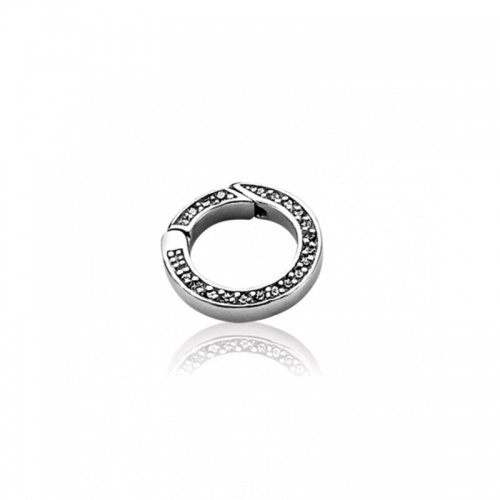 Zinzi Sterling Silver and CZ 18mm Round Lock
