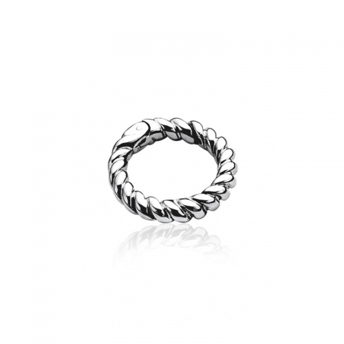 Zinzi Sterling Silver Twisted 24mm Lock