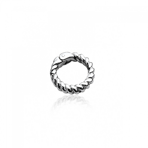 Zinzi Sterling Silver 18mm Twisted Lock
