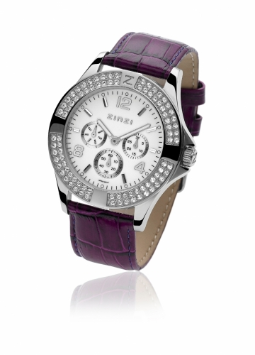 Zinzi Ladies' Maroon Chronograph Watch UNO04